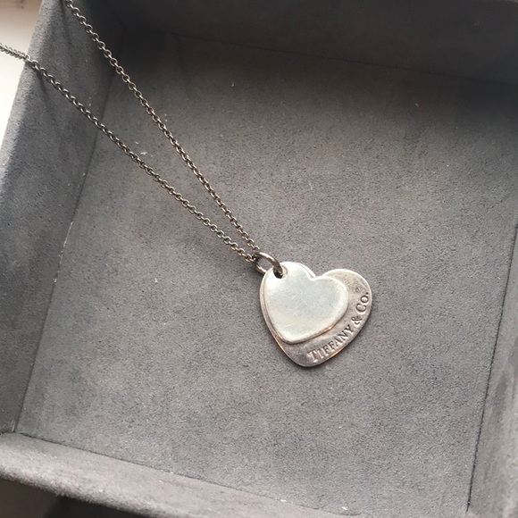 6ad7985a3 Tiffany & Co. Jewelry | Two Tiffany Co Heart Pendants With Chain ...